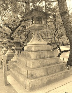 stone lantern, Japan, Kyoto, traditional, temple, shrine, history
