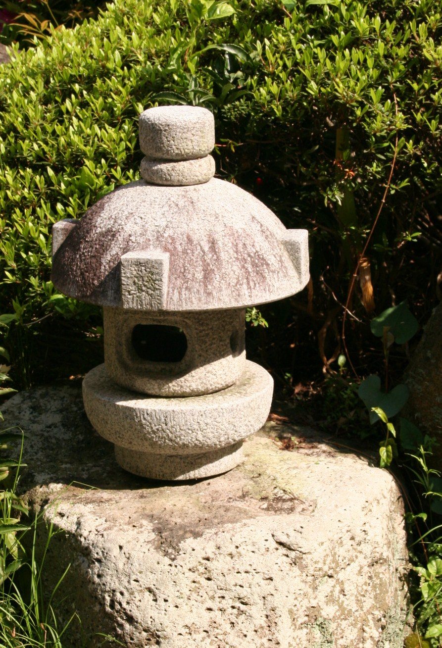 Misaki Doro is a reproduction of one of lanterns in Katsura Imperial Villa., Kyoto. This lantern is often placed on a boulder near a pond. It is a symbol of a lighthouse which guides fishing boats to home.