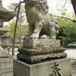 北野天満宮狛犬(三の鳥居)③|狛犬 (こまいぬ) |石彫刻 /石仏・ 狛犬・創作,|京都の石屋 芳村石材店