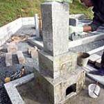お墓の移動作業 洗浄中|京都でのお墓相談,お墓のリフォームプラン