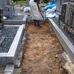 土の入れ替えプラン 掘削作業|京都でのお墓相談,お墓のリフォームプラン