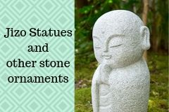 Jizo statues and other stone ornaments