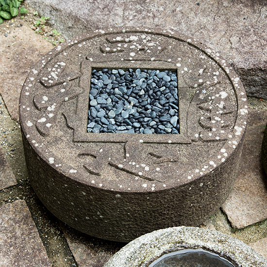 Chisoku Tsukubai. same design with a wash basin in Ryoan-ji Temple.