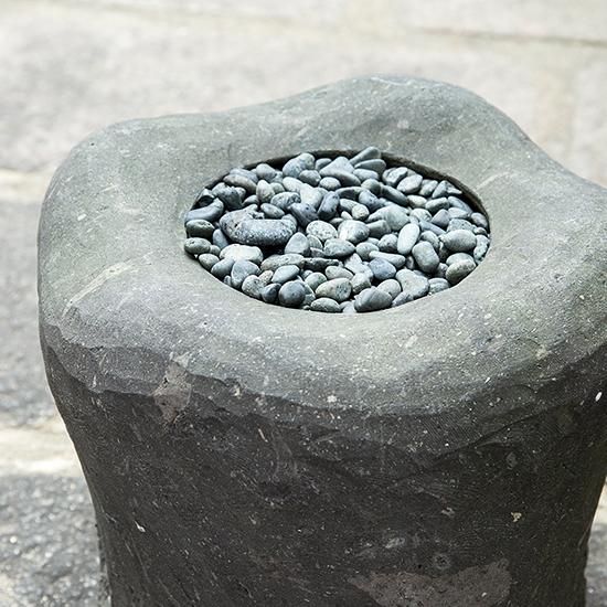 Yame stone Tsukubai (water basin for Japanese garden)
