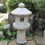 octagon shaped Japanese stone lantern