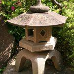 Hexagon Japanese stone lantern