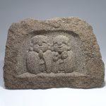出雲石(来待石)のわらべ地蔵レリーフ