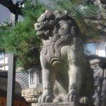 北野天満宮の石茂型狛犬