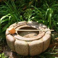 Chrysanthemum Basin, a traditional Japanese stone products